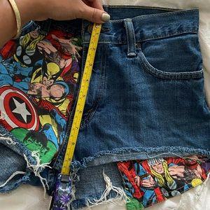 Levi's Shorts - Levi's Marvel Mid Rise Shorts